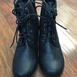 Breckelles Shoes - Breckelles black combat boots